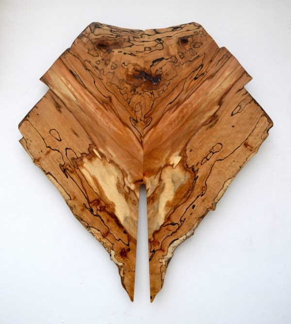 Handmade in Ireland Wood Wall Art with Unique grain Details. Made form Spalted Beech with Mirrored grain.