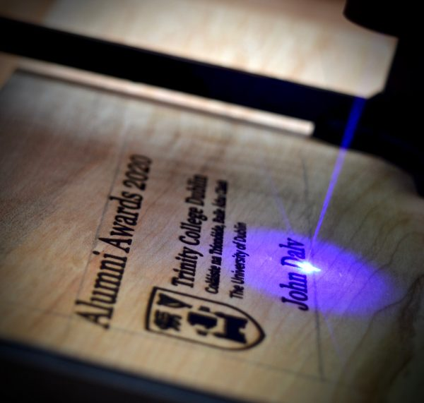 Lazer engraving in action