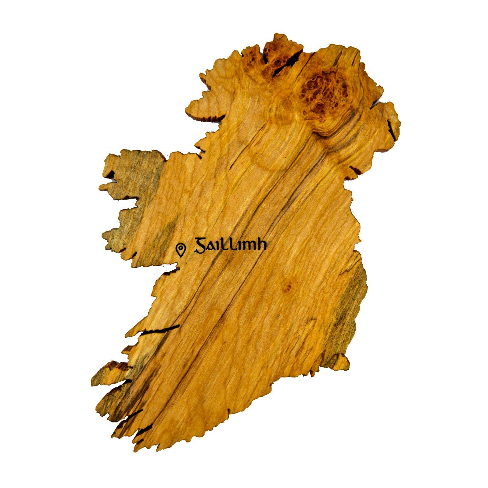 Wooden map of Ireland wall art