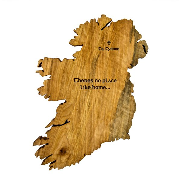 Wooden Ireland Map - There's no place like home